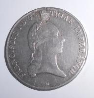 Rakousko Tolar 1820 František II., zadělaná dirka