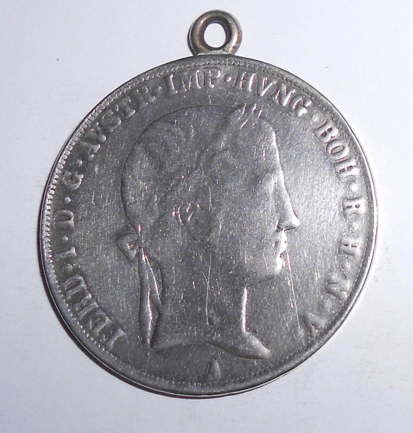 Rakousko Tolar 1845 A Ferdinand V., má ouško