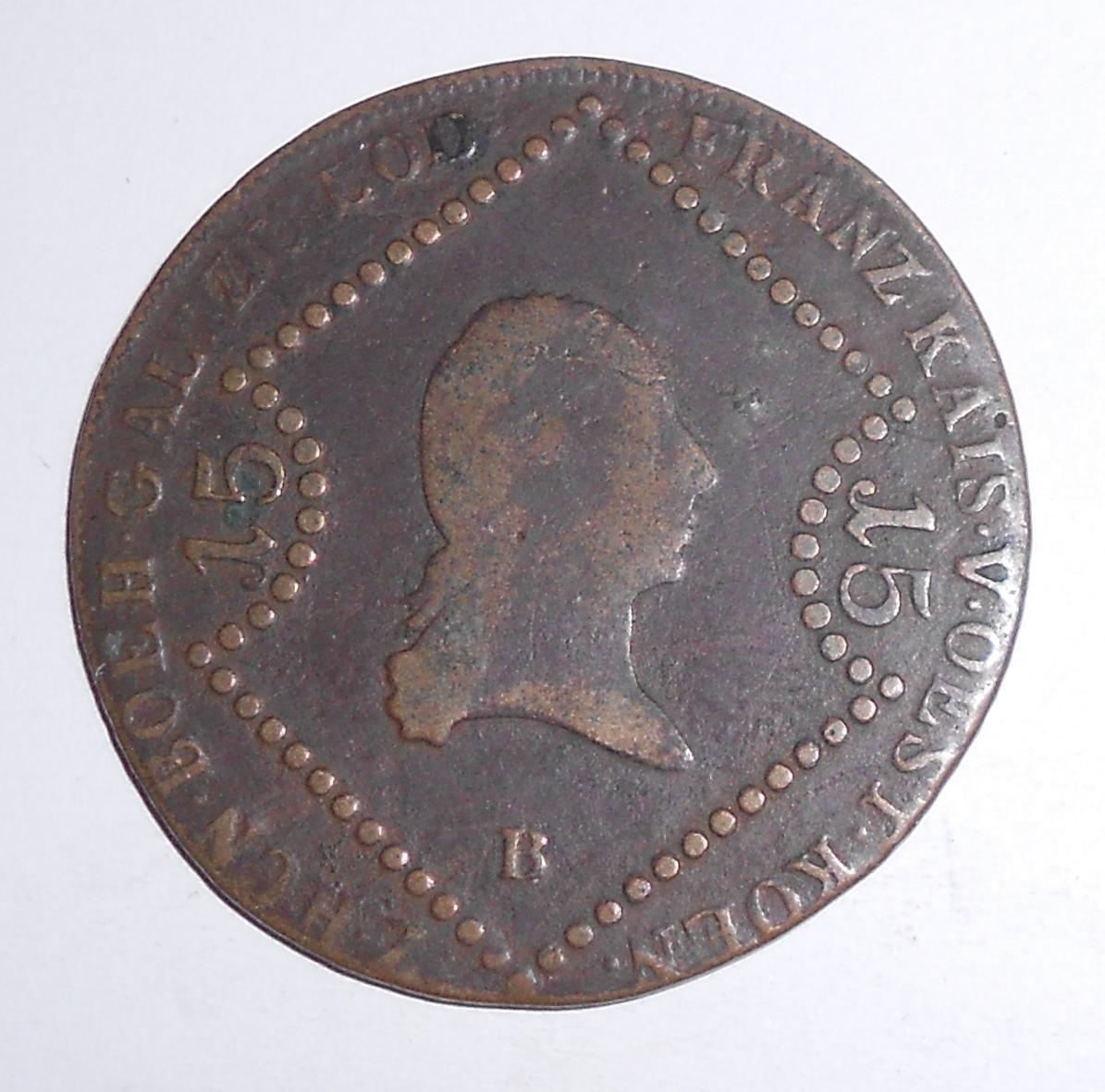 Uhry 15 Krejcar 1807 B František II.