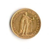10 Korun(1902-Au 900-3,4g-ražba KB), stav 1/1