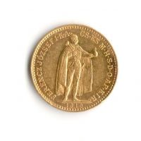 10 Korun(1910-Au 900-3,4g-ražba KB), stav 1/1