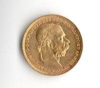 20 Korun(1893-Au 900-6,8g-ražba bz), stav 1+/1+