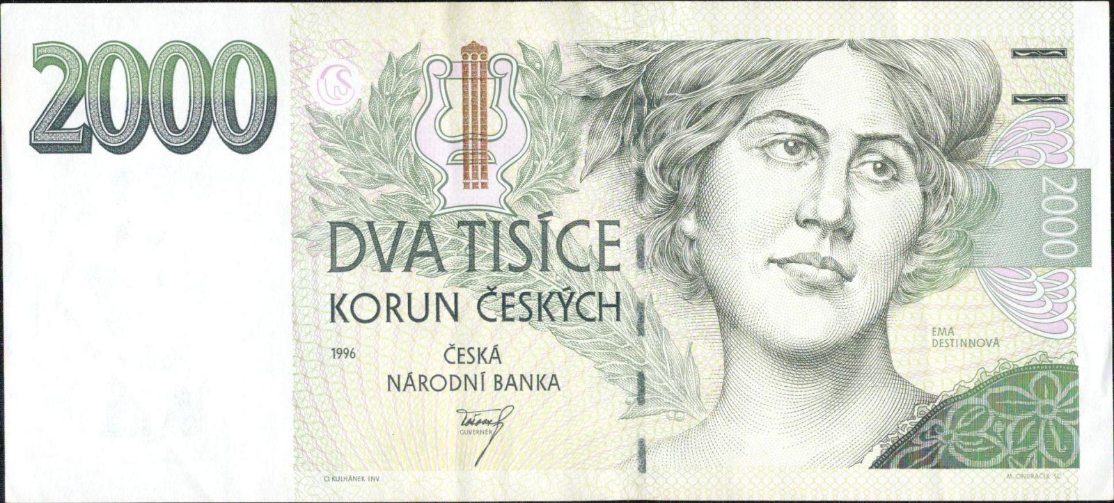2000Kč/1996/, stav 2+, série A 20