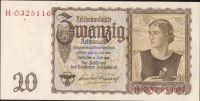 20Reichsmark/1939/, stav 1++, série H/W