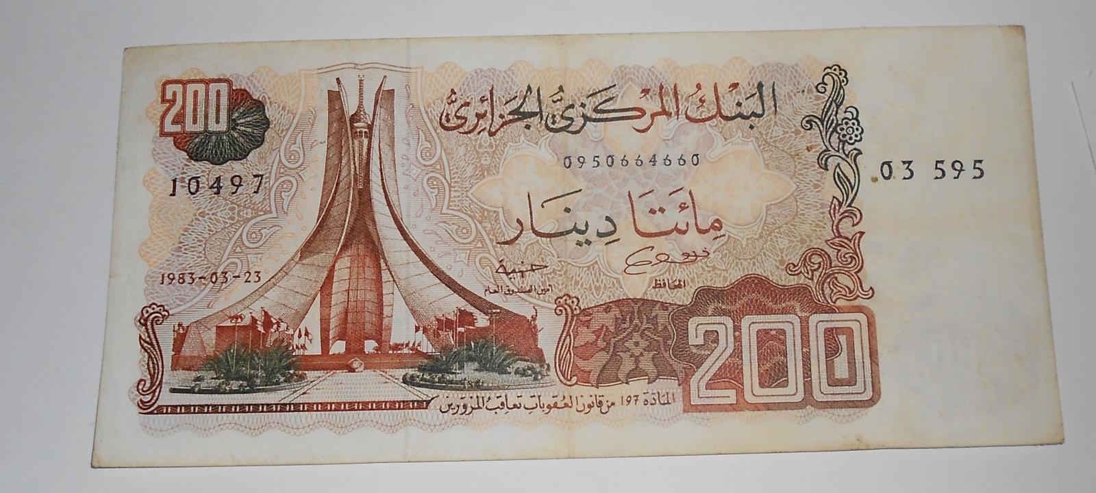 Alžír 2000 Dinar 1983