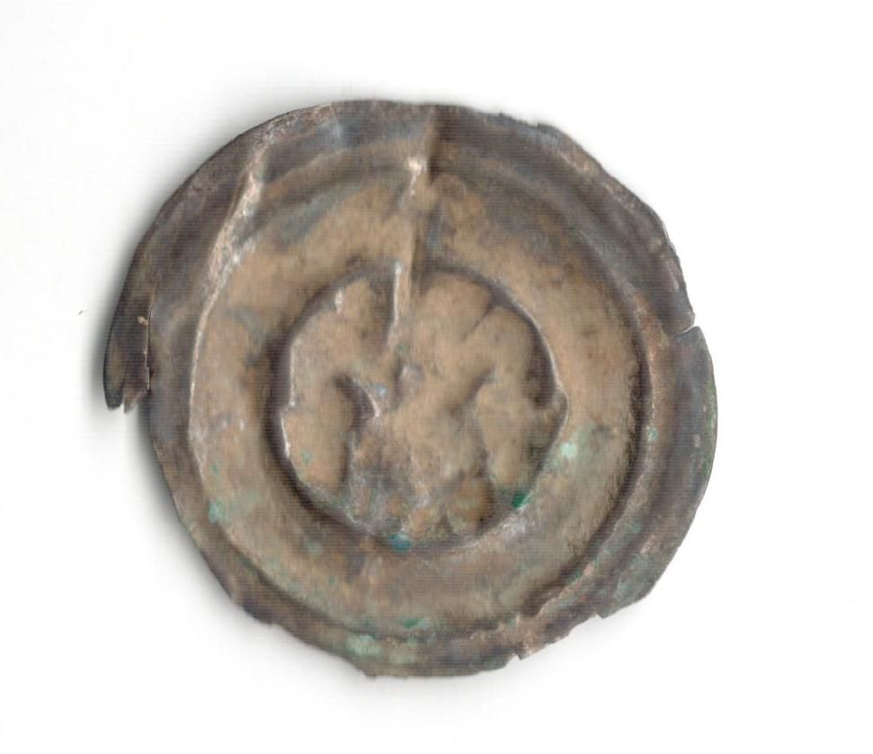 Brakteát Václav II. 1278-1305, C 960, stav 3 olámaný okraj
