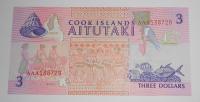 Cook Island 3 Dollar 1992