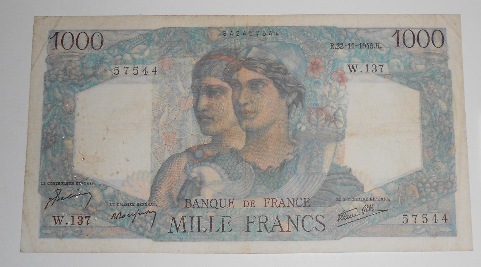 Francie 1000 Frank 1945