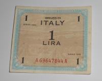 Itálie – vojenská okupace 1 Lira 1943