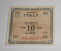 Itálie – vojenská okupace 10 Lira 1943