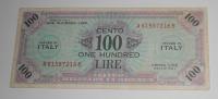 Itálie – vojenská okupace 100 Lira 1943