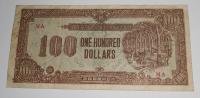 Japonská okupace 100 Dolar, hnědo-zelená
