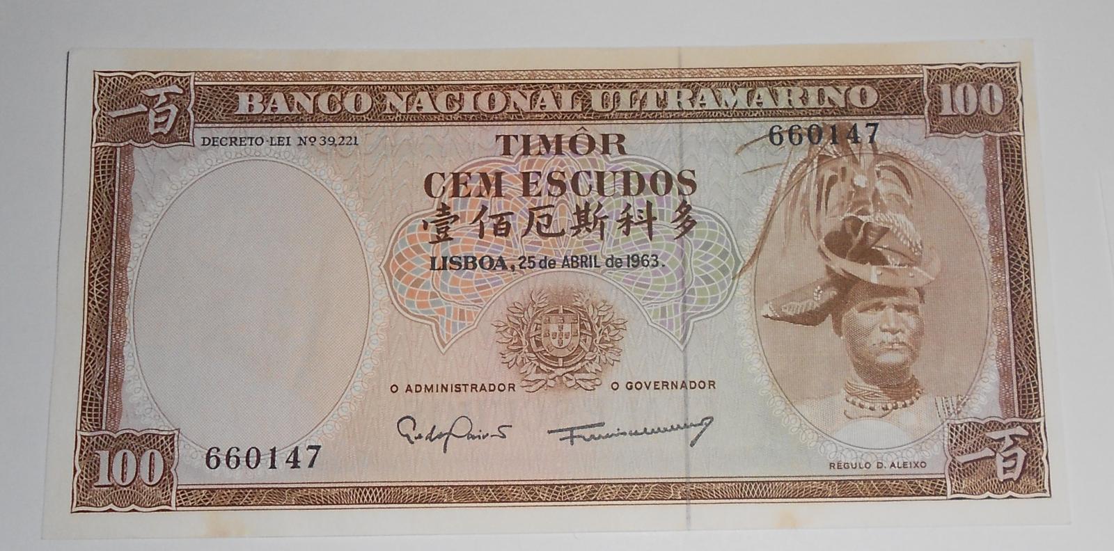 Mozambik 100 Escudos 1963