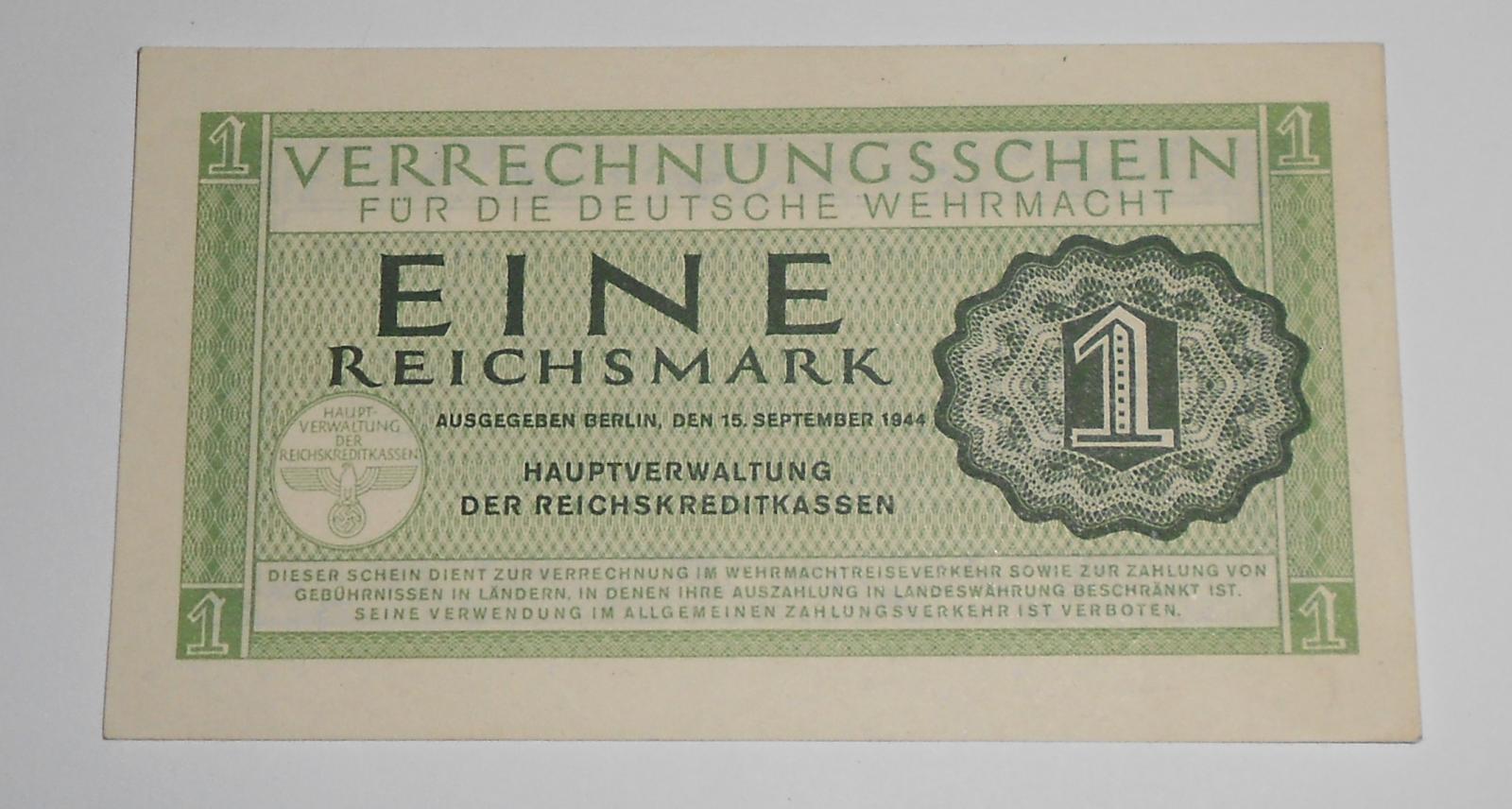 Německo 1 RM Wermacht