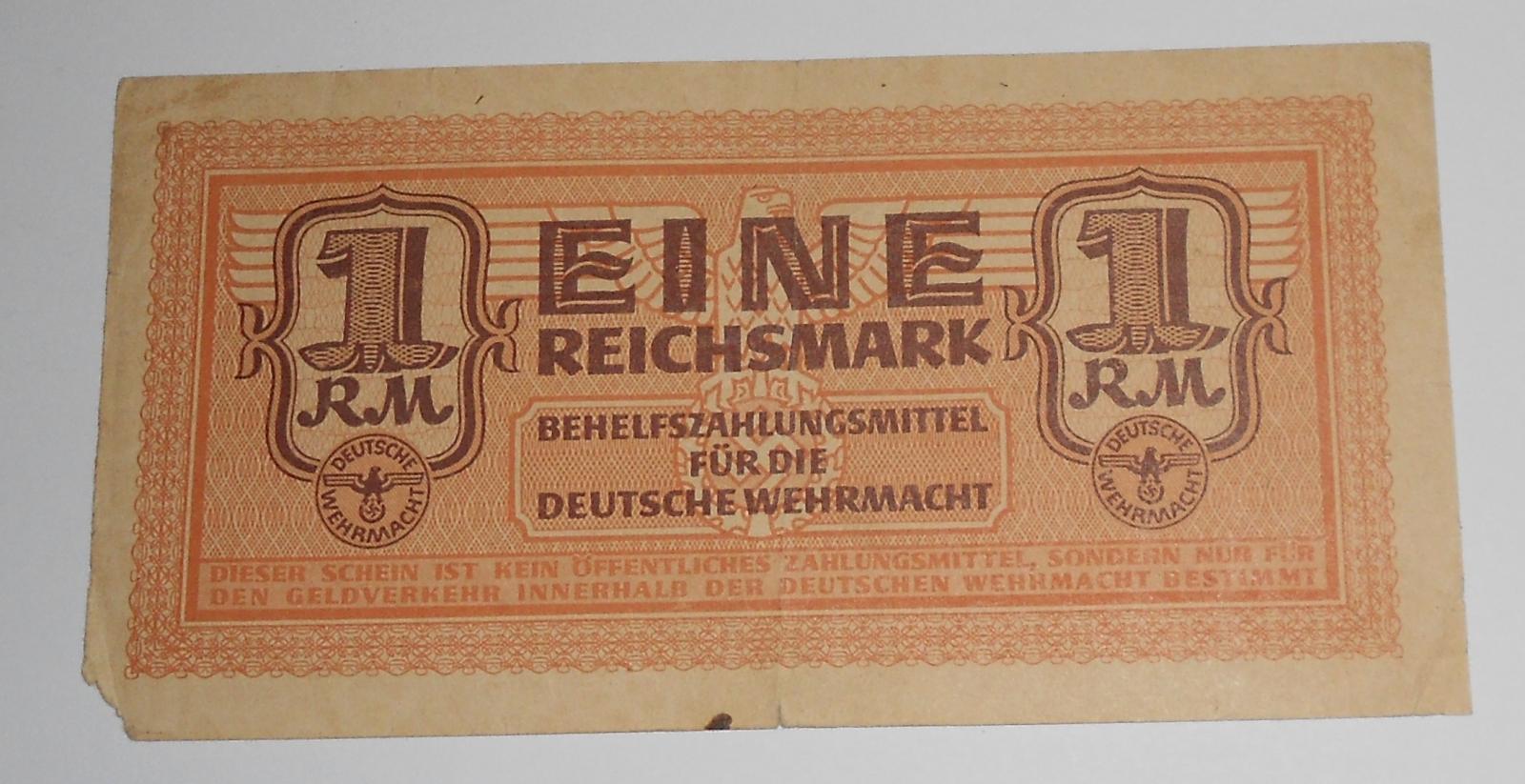 Německo 1 RM Wermacht, oranžová
