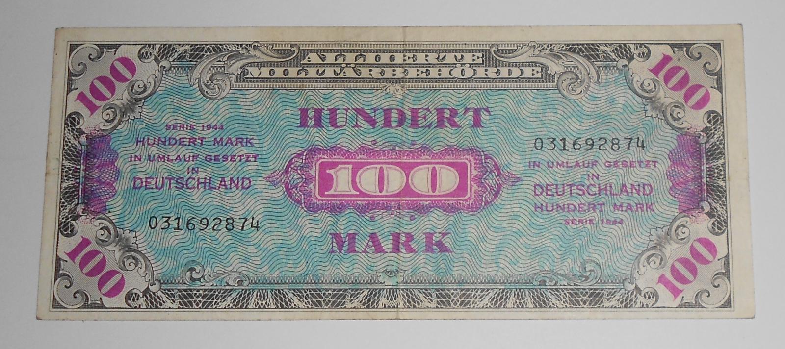 Německo 100 Marka 1944 Okupační