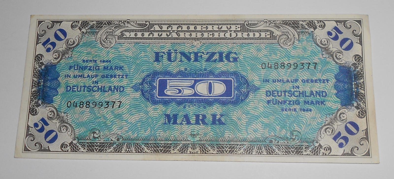 Německo 50 Marka 1944, okupační