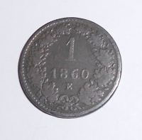 Rakousko 1 Krejcar 1860 E