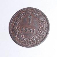 Rakousko 1 Krejcar 1881, stav
