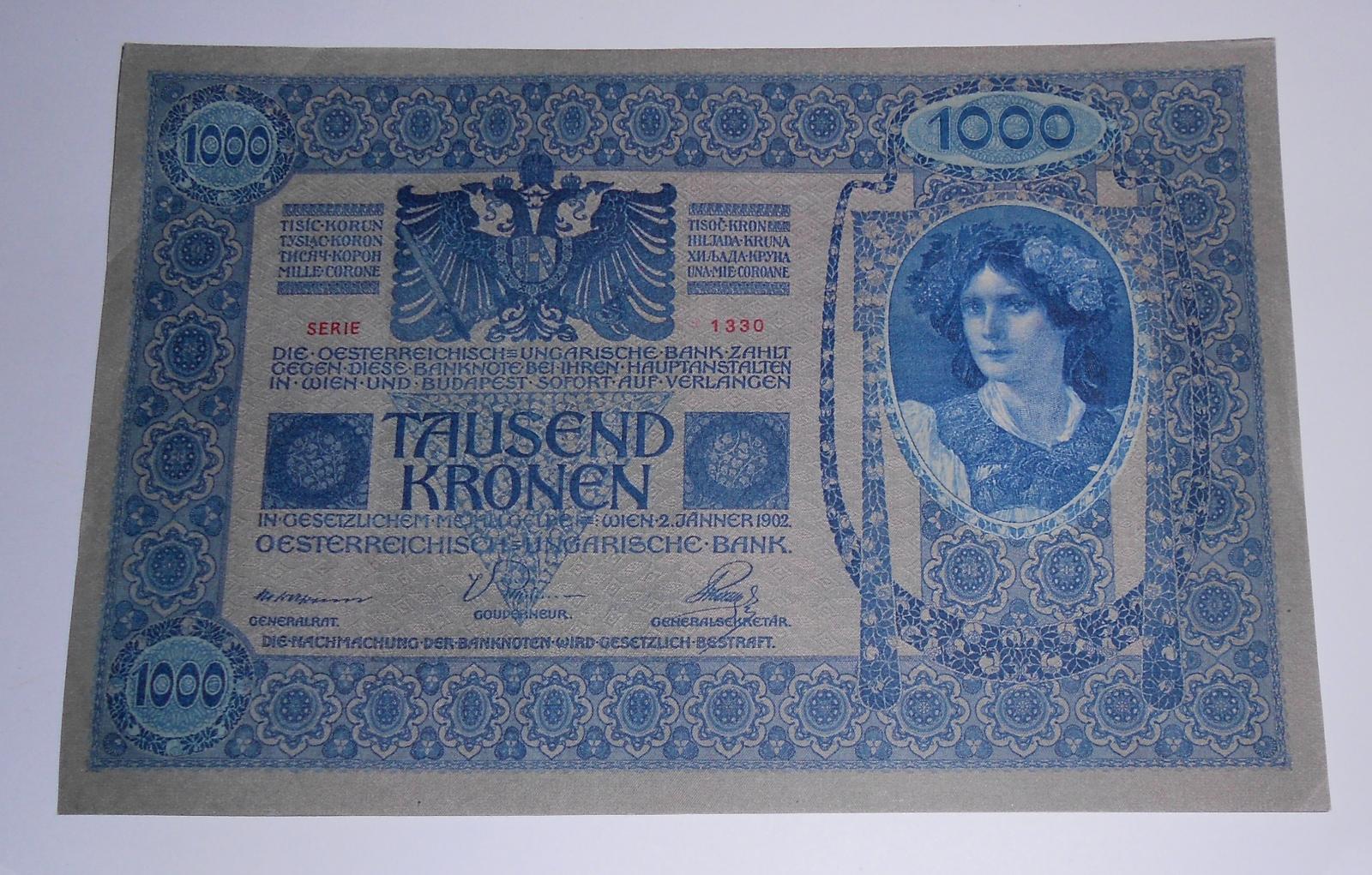 Rakousko 1000 Koruna 1902