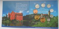 Ročníková sada oběžných mincí ČR (2002-České hrady a zámky), stavy 0/0