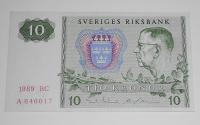 Švédsko 10 Kronor 1989