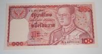 Thajsko 100 Baht Císař / červená