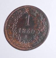 Uhry 1 Krejcar 1860 B