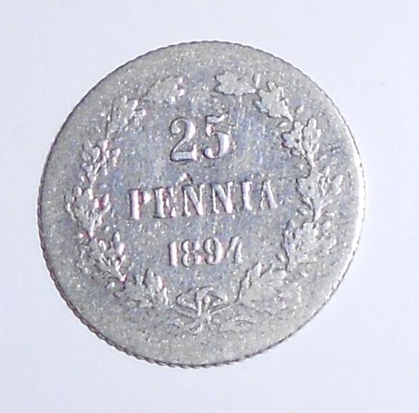 Finsko pod Ruskem 25 Penia 1894