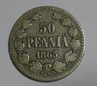 Finsko pod Ruskem 50 Penia 1865