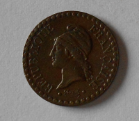 Francie 1 Centimes 1848, stav