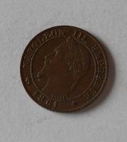 Francie 1 Centimes 1861 Napoleon III.