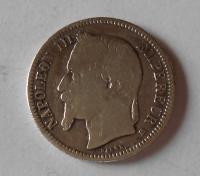 Francie 1 Frank 1868 BB Napoleon III.