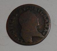 Francie 1 Liard 1720 BB Ludvík XV.