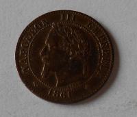 Francie 2 Cent 1861 Napoleon III.