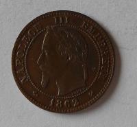 Francie 2 Cent 1862 Napoleon III.