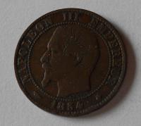 Francie 5 Cent 1854 BB Napoleon III.