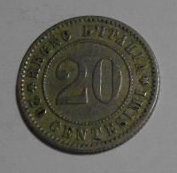 Itálie 20 Cent 1894