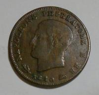 Itálie 3 Cent 1810 M Napoleon Bonap.