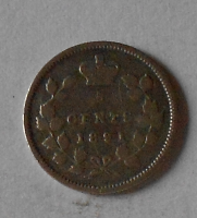 Kanada 5 Cent 1891 Viktorie