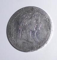Rakousko 1 Zlatník/Gulden 1854, měl sponu