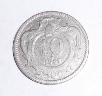 Rakousko 10 Haléř 1907