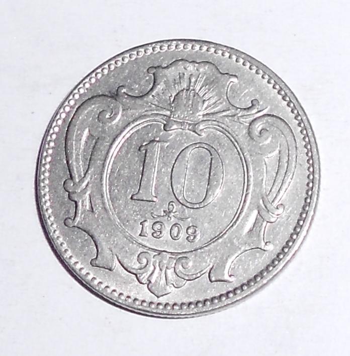 Rakousko 10 Haléř 1909