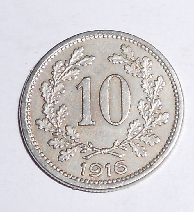 Rakousko 10 Haléř 1916, stav