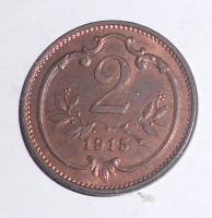 Rakousko 2 Haléř 1915, pěkný