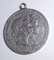 Rakousko 2 Zlatník/Gulden 1879 Stříbrná svatba, dobové ouško