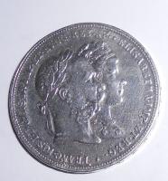 Rakousko 2 Zlatník/Gulden 1879 Stříbrná svatba, měl ouško