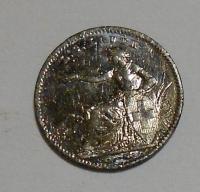 Švýcarsko 5 Frank 1888, miniatura