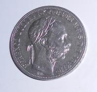Uhry 1 Zlatník/Gulden 1884 KB, pěkný