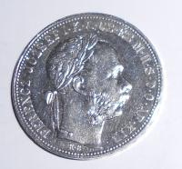 Uhry 1 Zlatník/Gulden 1885, stav